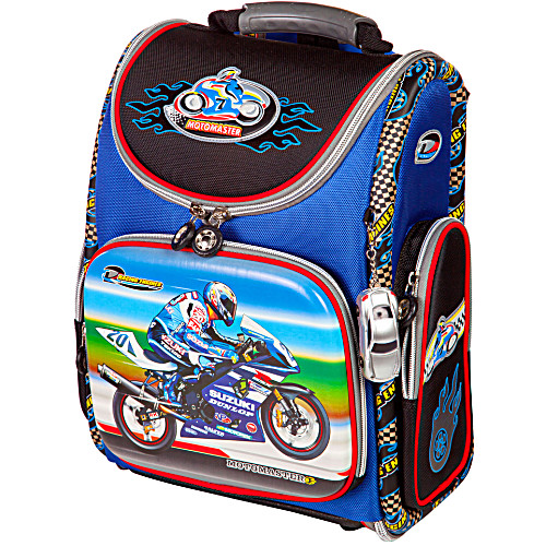 Школьный рюкзак - ранец HummingBird Motomaster K64 с мешком для обуви